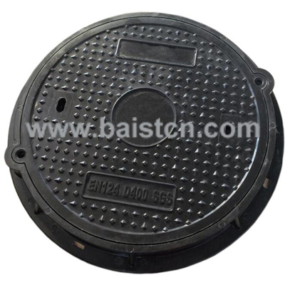 600x50mm EN124 D400 SGS SMC Manhole Cover