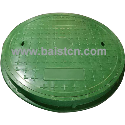 BMC Manhole Cover Light Duty Green Color 900x60mm