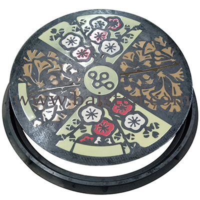 Artistic SMC Manhole Cover Round 700mm 16KG With Good Qualit