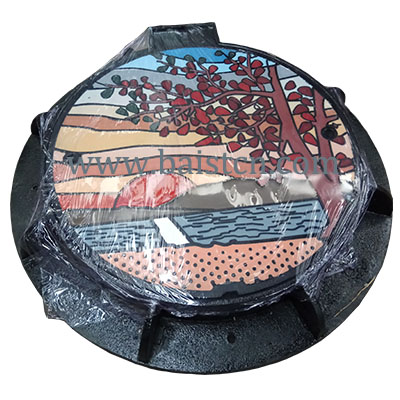 Ductile Iron Artistic Manhole Cover Round Type 700mm