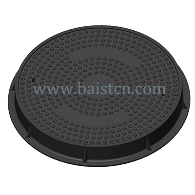 EN124 C250 ROund 756mm Black SMC Manhole