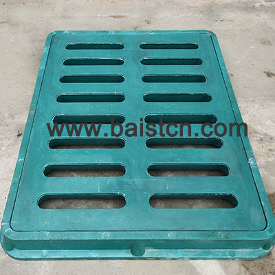 400x500x40x60mm Green Color BMC Trench Cover